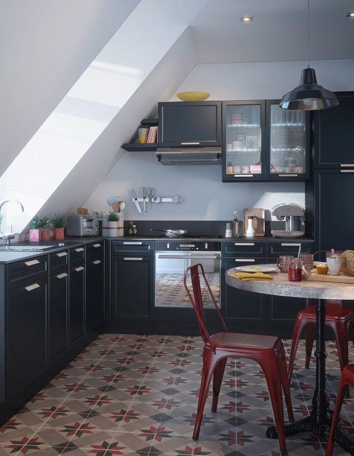 Des placards de cuisine pratiques car vitrés