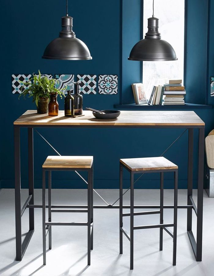 tabouret haut maison du monde table de salle manger en manguier l cm farmers maisons du monde. Black Bedroom Furniture Sets. Home Design Ideas