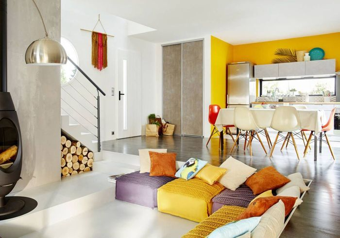 cuisine ouverte d couvrez toutes nos inspirations elle d coration. Black Bedroom Furniture Sets. Home Design Ideas