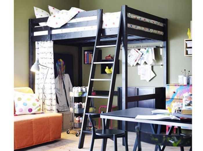 10 solutions pour am nager le dessous d un lit mezzanine elle d coration. Black Bedroom Furniture Sets. Home Design Ideas