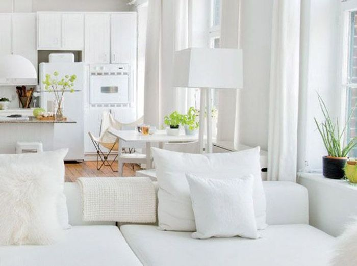 5 int rieurs en blanc pour agrandir votre surface elle d coration. Black Bedroom Furniture Sets. Home Design Ideas