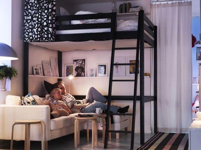 Des meubles astucieux et sympas pour votre studio elle d coration - Mezzanine pour studio ...