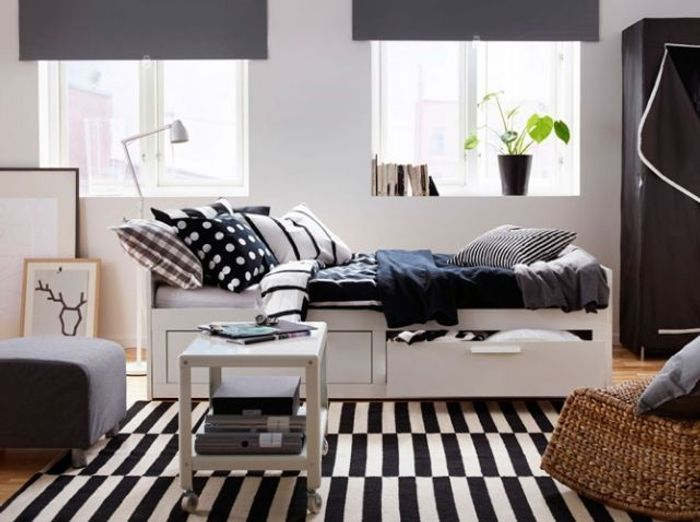 studio nos 30 id es de rangements bien pens s elle d coration. Black Bedroom Furniture Sets. Home Design Ideas