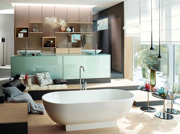 Aubade la le on de s duction version salle de bains for Elle deco salle de bain
