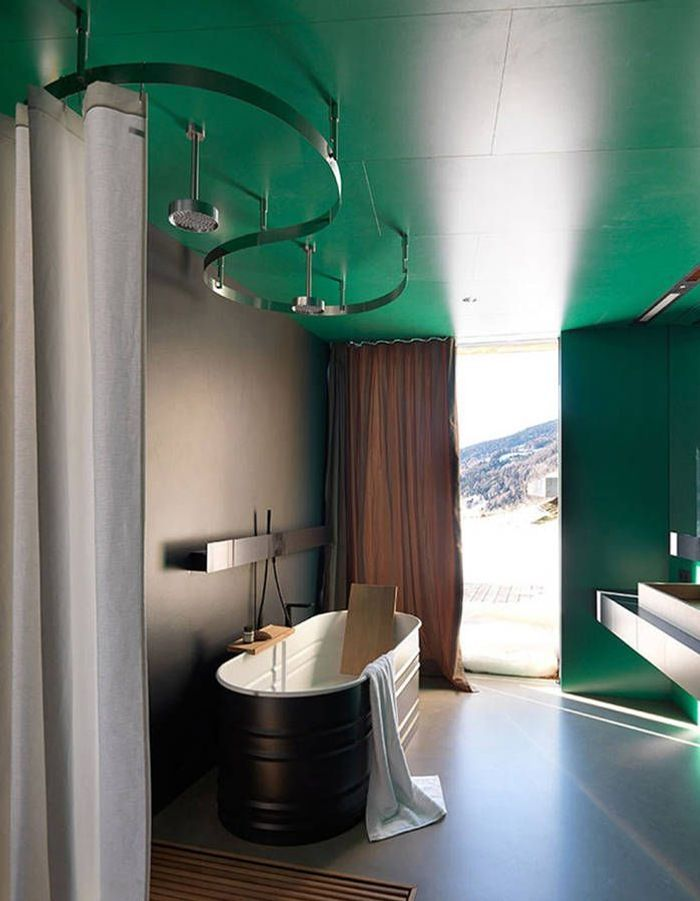 Couleur salle de bains 15 astuces pour apporter de la couleur la salle de bains elle - Salle de bain idee couleur ...