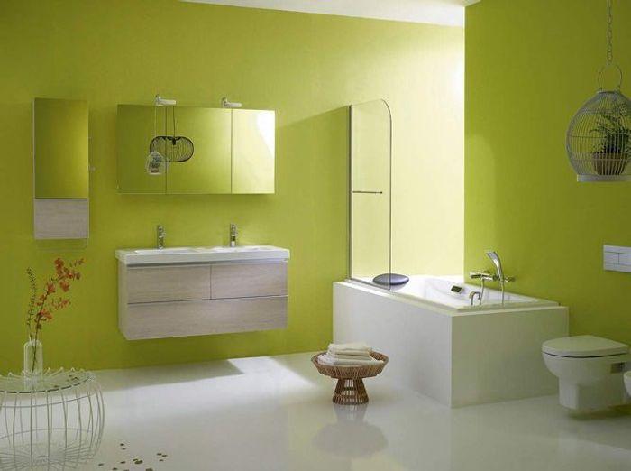 5 jolies salles de bains dans tous les styles elle d coration for Couleur salle de bain zen