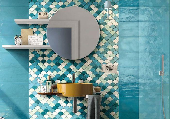 Salle de bains bleue Imola Ceramica