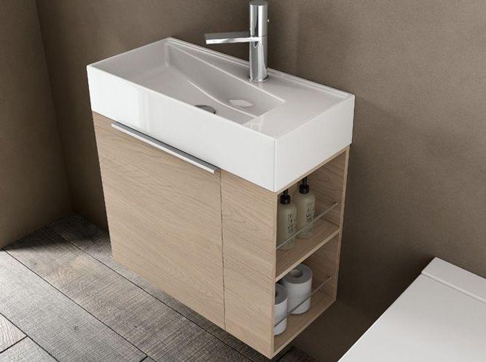 40 meubles pour une petite salle de bains elle d coration for Petit meuble de salle de bain
