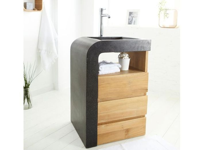 petit meuble sous lavabo wc. Black Bedroom Furniture Sets. Home Design Ideas