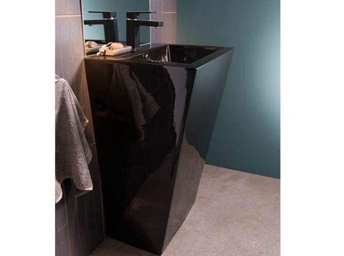 salle de bains : 12 lavabos contemporains - elle décoration - Lavabo Salle De Bain Castorama