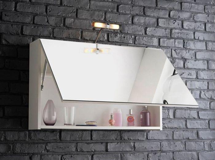 Petit meuble salle de bains notre s lection elle - Meuble salle de bain avec miroir ...