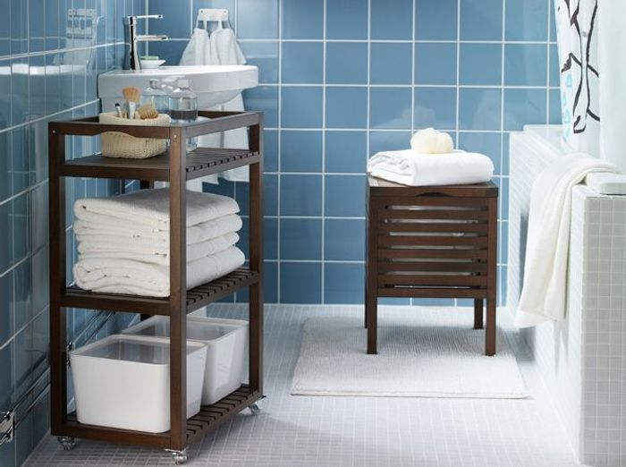 Petit meuble salle de bains notre selection elle for Meuble salle de bain petit