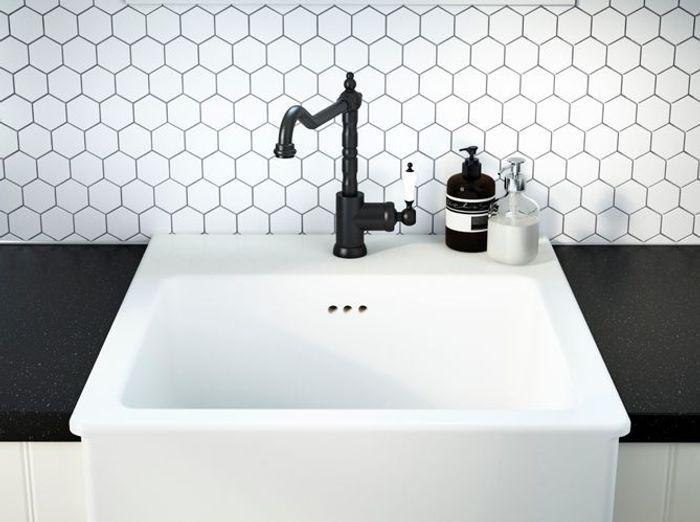 La Robinetterie Noire Détail Ultra Chic Elle Décoration - Ikea robinet salle de bain