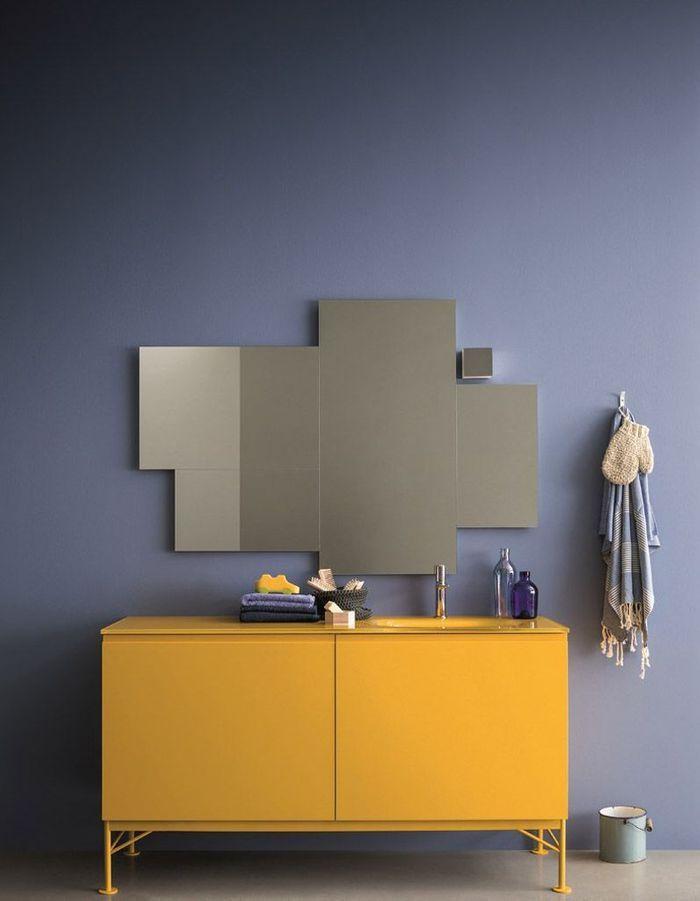 Voici les plus jolis miroirs de salle de bains elle - Miroir salle de bain a coller ...