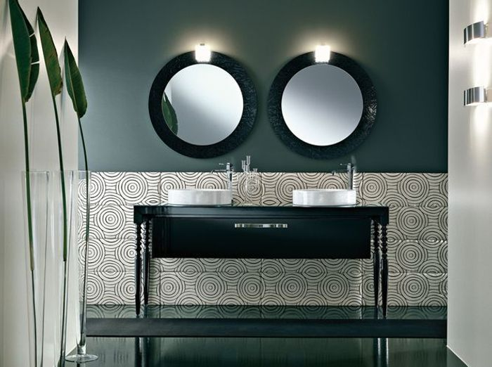 la salle de bains s'habille en noir et blanc - elle décoration - Salle De Bain Moderne Noir Et Blanc