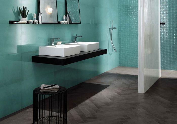 Salle de bains 15 sols qui font la diff rence elle - Peindre un sol carrele ...