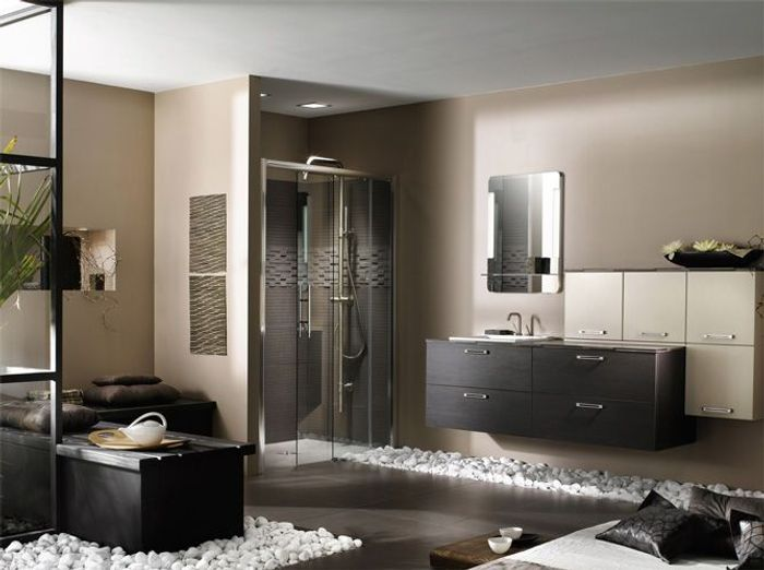 une salle de bains zen elle d coration. Black Bedroom Furniture Sets. Home Design Ideas