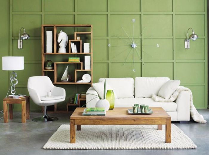 Deco salon vert