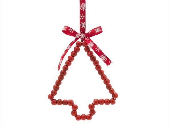 40 boules de no l traditionnelles elle d coration - Boule de noel rouge et blanche ...