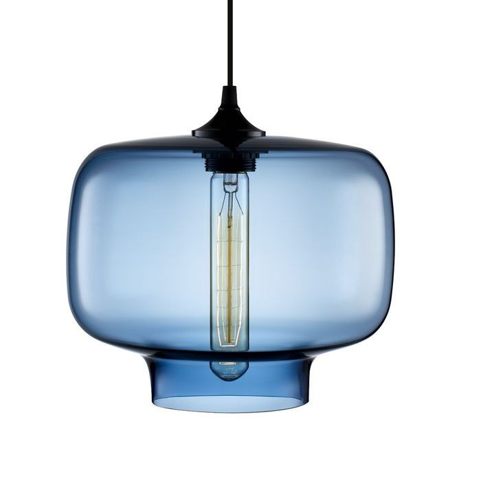 Le verre met le luminaire nu elle d coration for Suspension cuisine verre