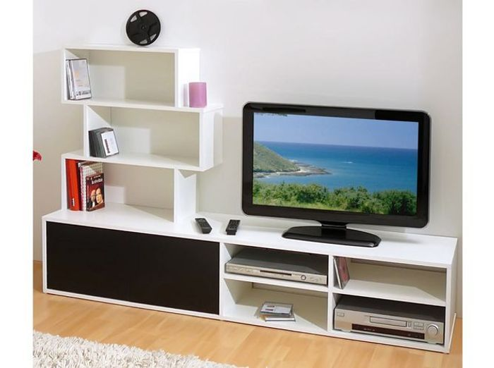 meuble tv led pas cher ensemble meuble tv mural meubles. Black Bedroom Furniture Sets. Home Design Ideas