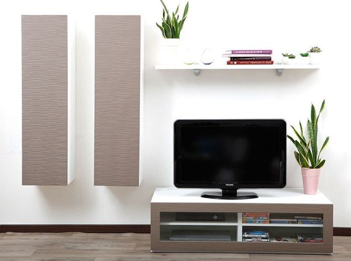 Meuble tv fixe au mur 28 images cr 233 ez un beau for Meuble tv dimension