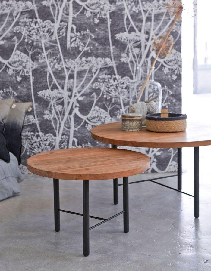 une table basse en bois pour une touche chaleureuse au. Black Bedroom Furniture Sets. Home Design Ideas
