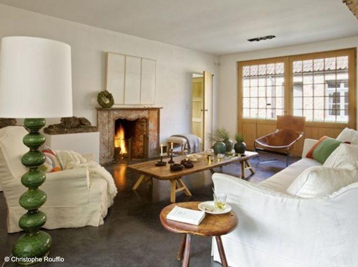 Nos 50 plus belles chemin es elle d coration - Peindre son salon en gris et blanc ...