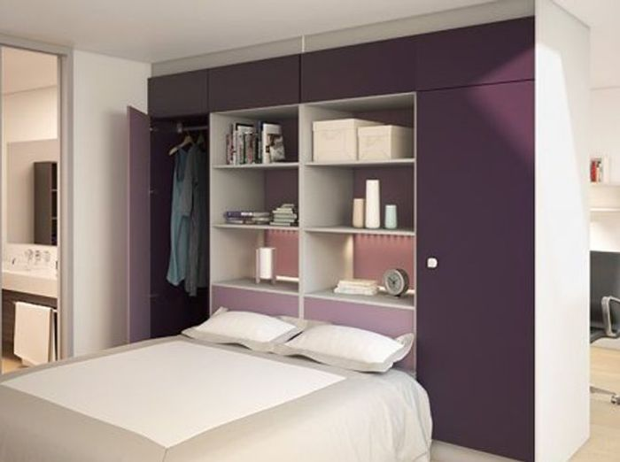 15 id es de dressings pour un petit appartement elle d coration - Amenagement tete de lit ...