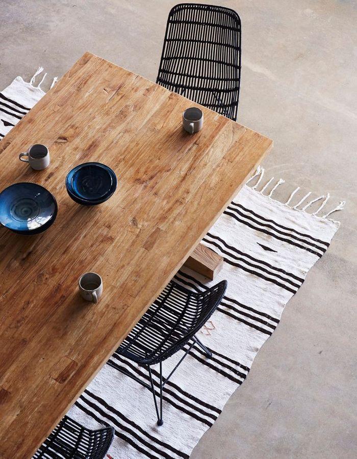 Séparer les espaces via un tapis