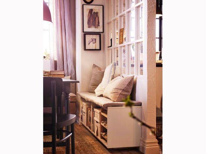 Une verrière dans le salon pour créer un coin cocooning