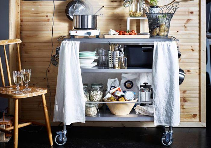 Une desserte Ikea détournée en cuisine nomade