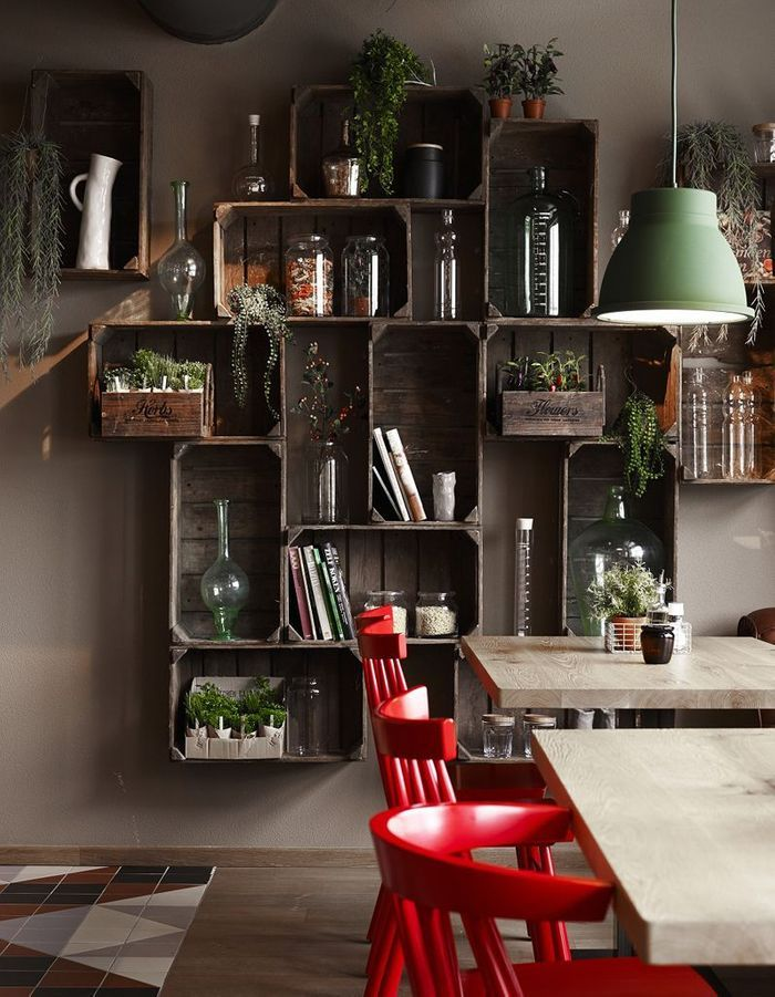 20 id es d co avec des cagettes en bois elle d coration. Black Bedroom Furniture Sets. Home Design Ideas
