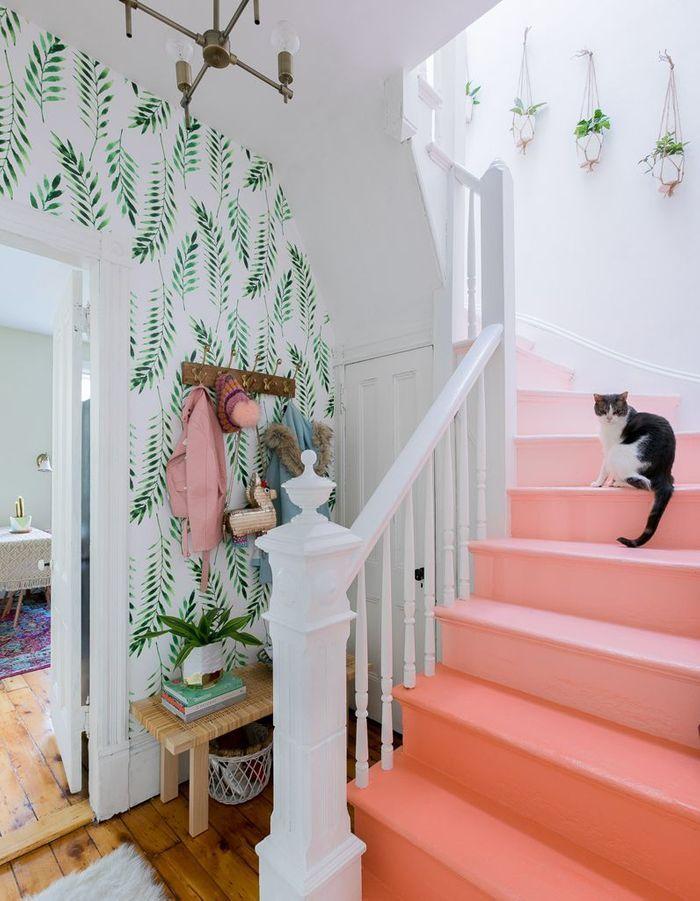 Créer un dégradé de couleurs sur les contre-marches pour un escalier déco