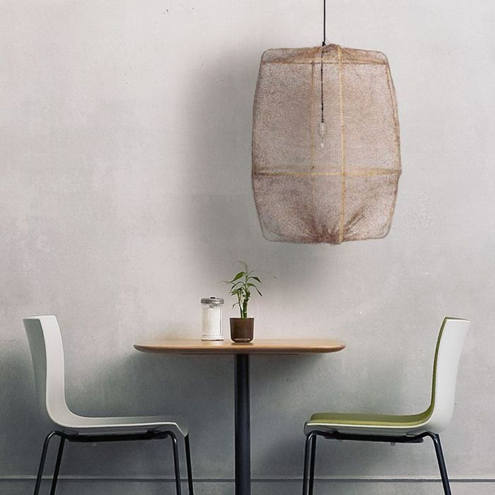 Suspension rotin blanc maison design for Suspension osier design