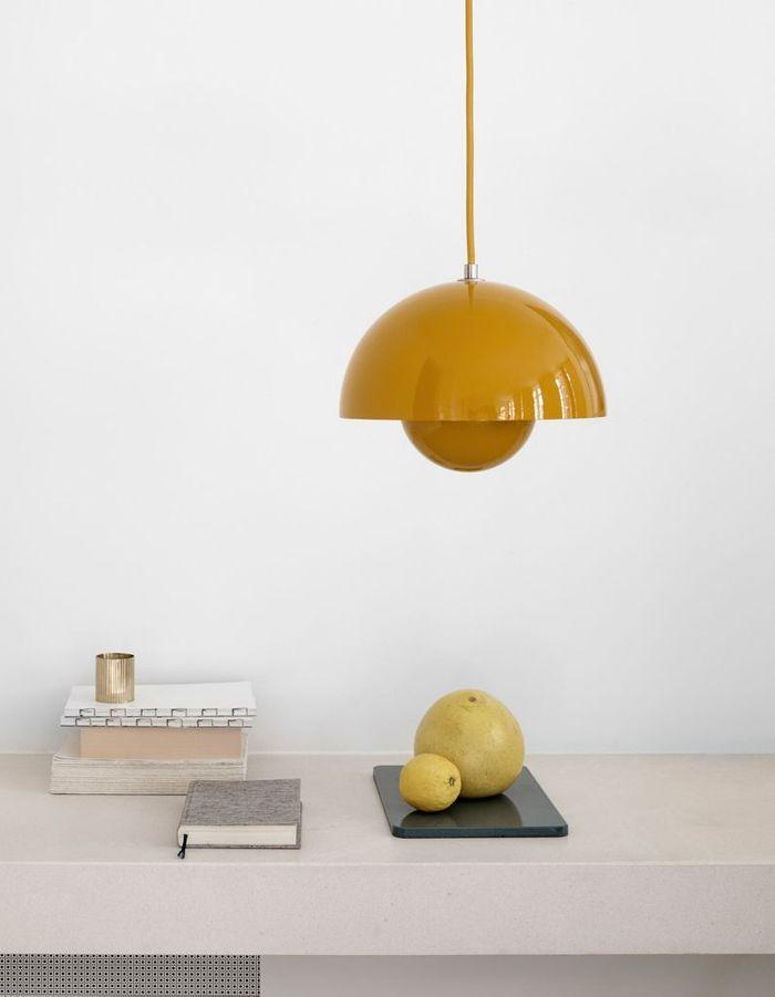 Le jaune moutarde associé au beige