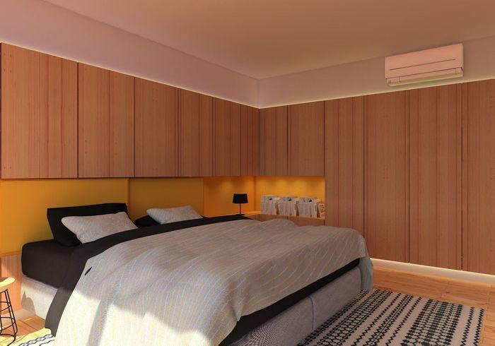 Logez la climatisation réversible à la limite du plafond
