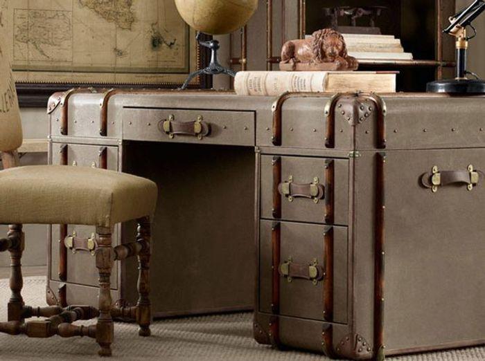 des valises r tro pour une d co 100 vintage elle d coration. Black Bedroom Furniture Sets. Home Design Ideas