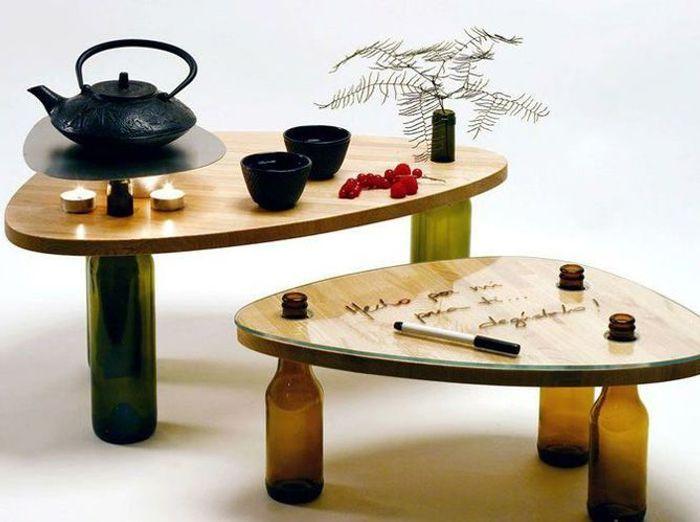 Reciclagem jardinagem e decoracao pied de table