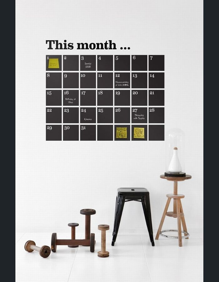 Stickers Calendar Black, Ferm Living