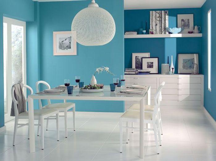 Emejing Cuisine Peinte En Bleu Ideas - Matkin.info - matkin.info
