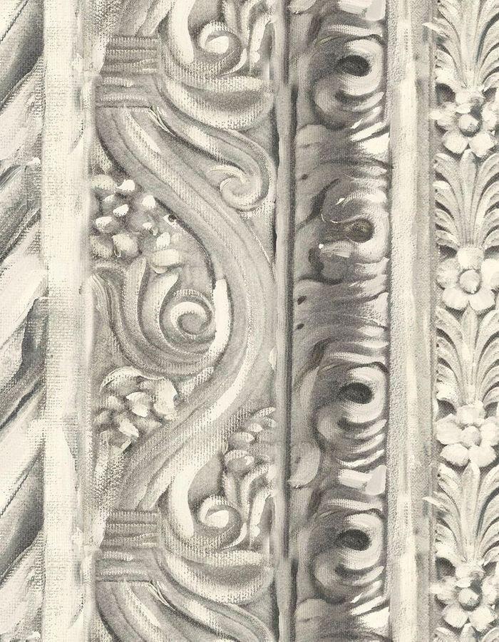 Papier peint comme une fresque architecturale