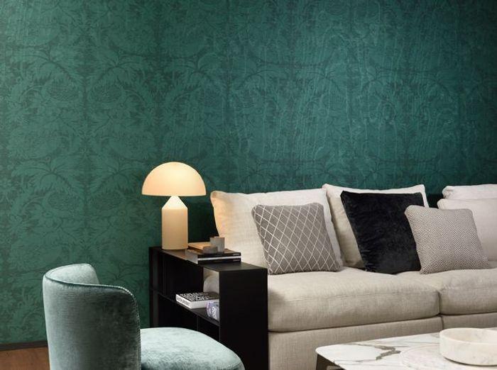 Un papier peint vert délicat et classique