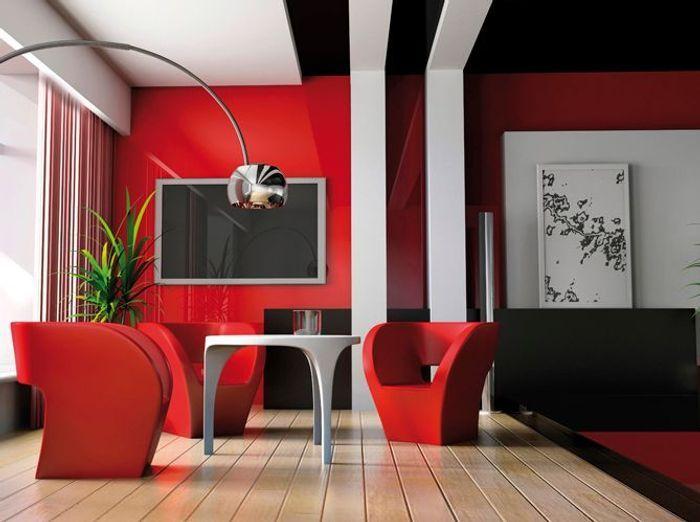 Peinture les couleurs tendance en 2013 elle d coration for Peinture rouge salon