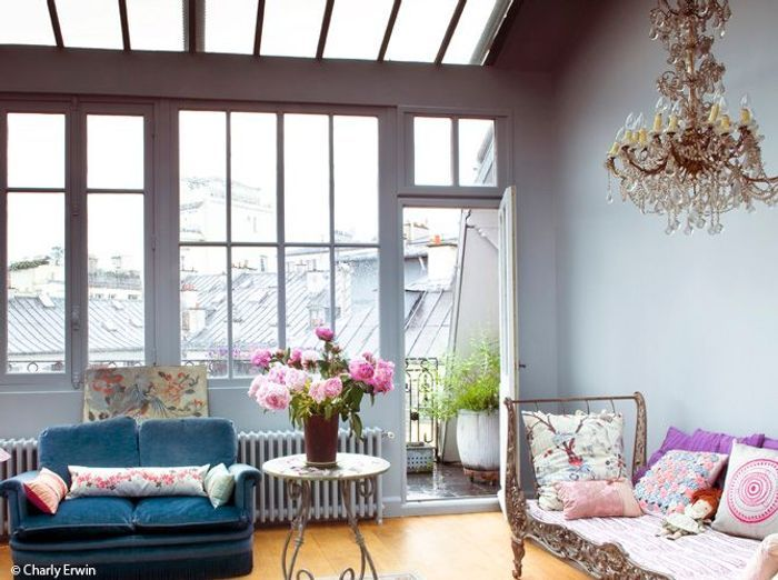 peinture pastel pour salon. Black Bedroom Furniture Sets. Home Design Ideas