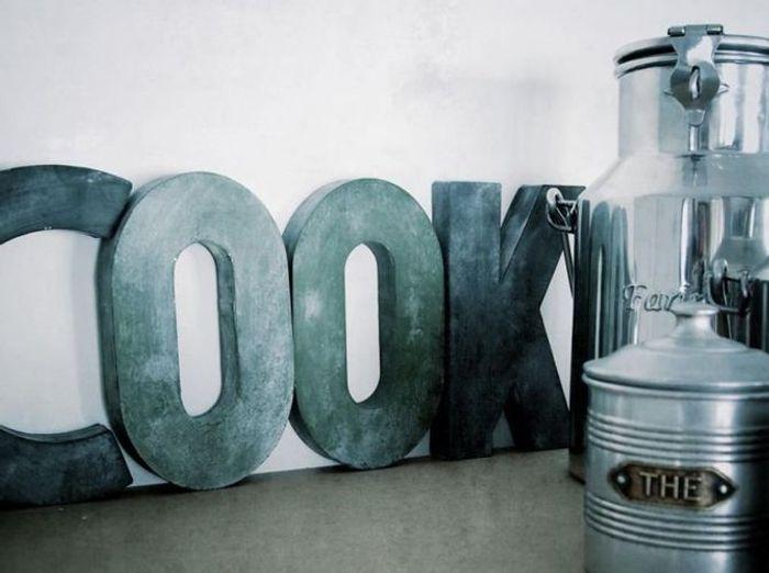 Tendance les lettres d co font vibrer vos murs elle d coration - Lettre decorative cuisine ...