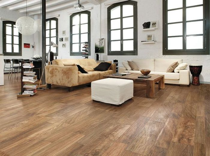 60 carrelages d co elle d coration - Salon avec parquet gris ...