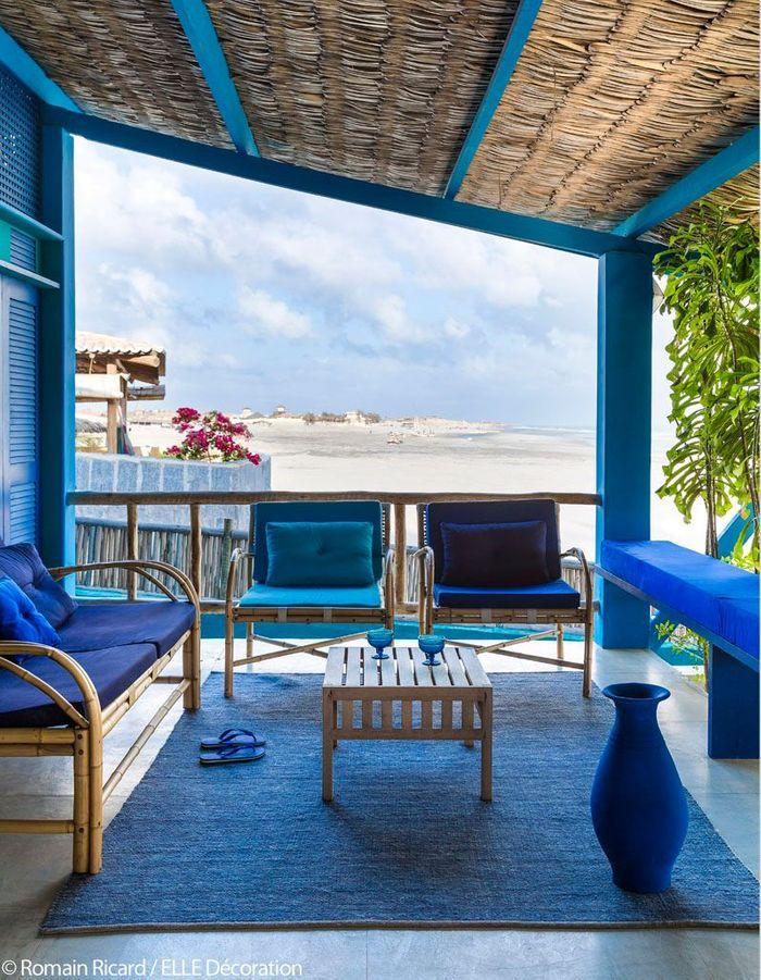 Terrasse au bord de la plage