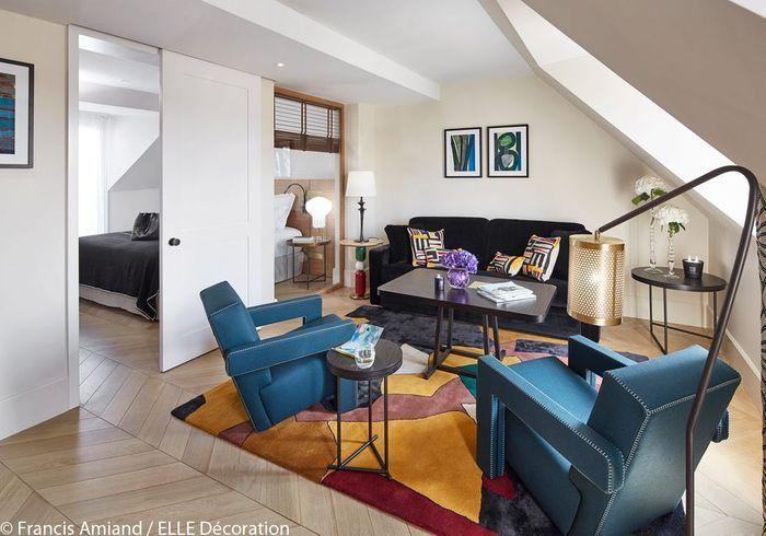 les 6 h tels les plus chics de paris elle d coration. Black Bedroom Furniture Sets. Home Design Ideas