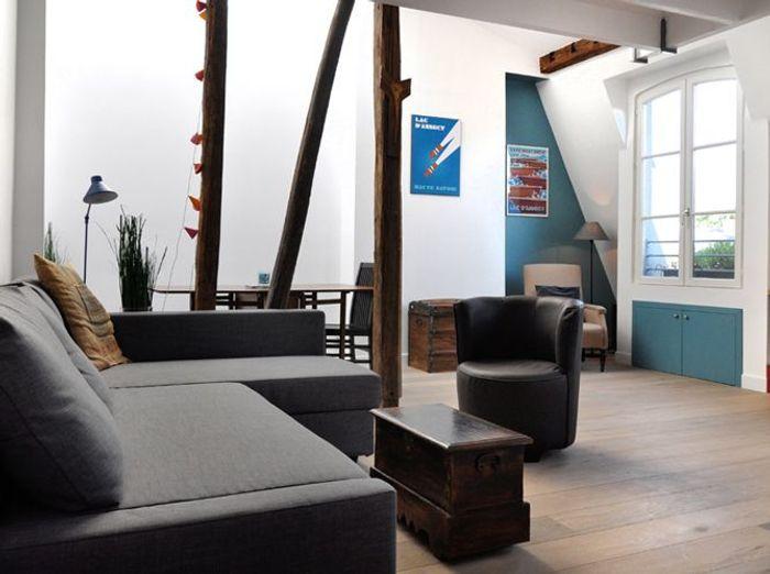 la transformation de chambres de service en appartement design elle d coration. Black Bedroom Furniture Sets. Home Design Ideas